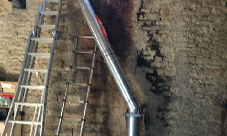 Création d'un conduit de cheminée à Besançon